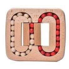 Brinquedo de madeira bloqueio inteligente luban bloqueios tradicional cérebro teaser quebra-cabeça brinquedos educativos antigo ancestral fechaduras antistress brinquedos