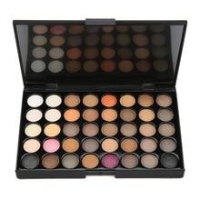 Paleta de sombra de ojos, 40 colores, pigmento al desnudo mate negro marrón, duradero, resistente al agua, maquillaje mate