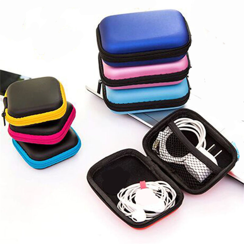 Earphone Wire Organizer Box Storage Bag Case For Headphone Container Cable Earbuds Pouch Holder