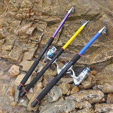 2019 New 2.1-3.6M Retractable Fishing Rod Glass Fiber Reinforced Plastics Portable Flexible Elastic Ocean Bait Casting Hard Pole