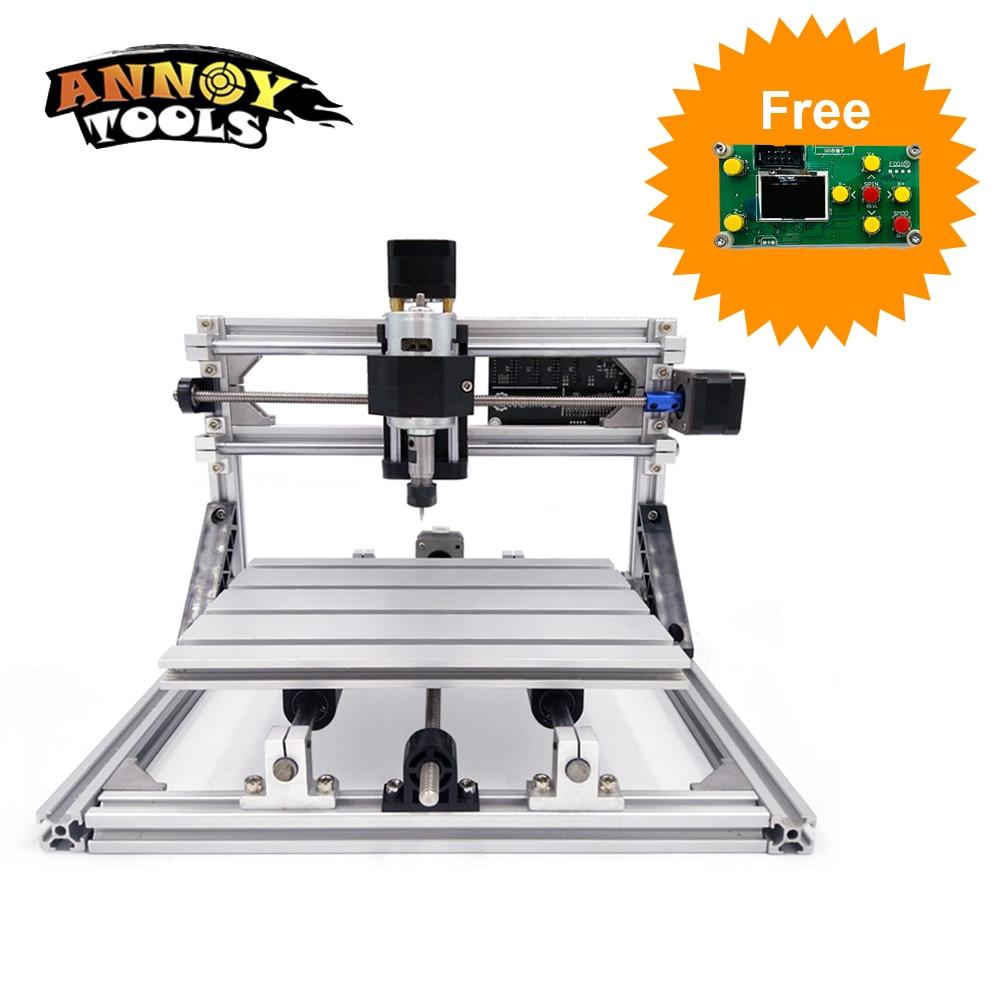 Cortadora láser CNC 2418 Máquina de grabado CNC 500mw / 2500mw / 5500mw / 15000mw Enrutador de madera con láser Fresadora de PVC Talla de metal