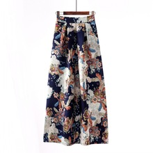 New Skirt Womens Europe and America Long Retro Large Swing Skirts Faldas Mujer Moda 2019
