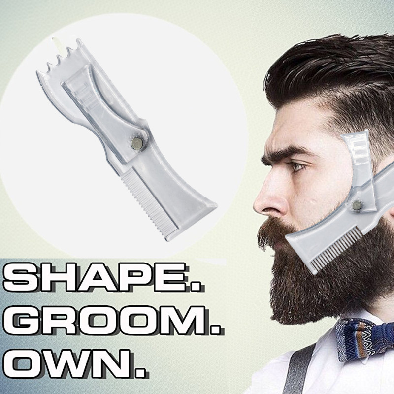 Image 3 - Beard Shaping Tool Template Double Sided Beard Comb New Hot Sale Shaving & Hair Removal Razor Tool for Men-in Shaving Brush from Beauty & Health