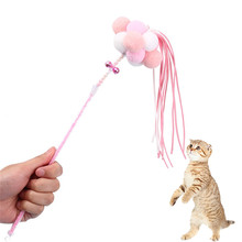 1 pc Cat Teaser Wand Toy Stick Interactive Play Toys Feather Funny Playing  Kitten Catcher For Dog Kids