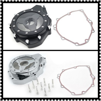 Aftermarket Free Shipping Motorcycle Parts See Through Engine Stator Cover For Suzuki Gsx1300R Hayabusa 99-19 w/ Gasket Chrome image