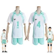 Haikyuu!! Aoba johsai #4 #1 oikawa tooru uniforme da escola cosplay traje haikiyu bola de voleibol equipe camisa do esporte