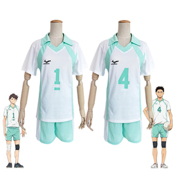 Haikyuu!! Aoba Johsai #4 #1 Oikawa Tooru School Uniform Cosplay Costume Haikiyu Volley Ball Team Jersey Sportswear