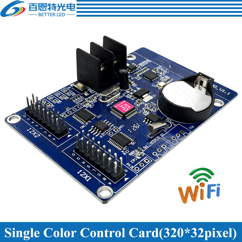 HD-W00 WIFI 2*HUB12 Single Color(320*32 Pixels) WIFI LED Display Control Card