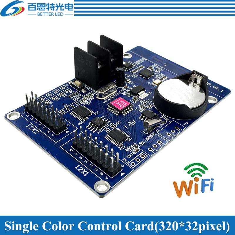 HD-W00 WIFI 2*HUB12 Single Color(320*32 Pixels) WIFI LED Display Control Card