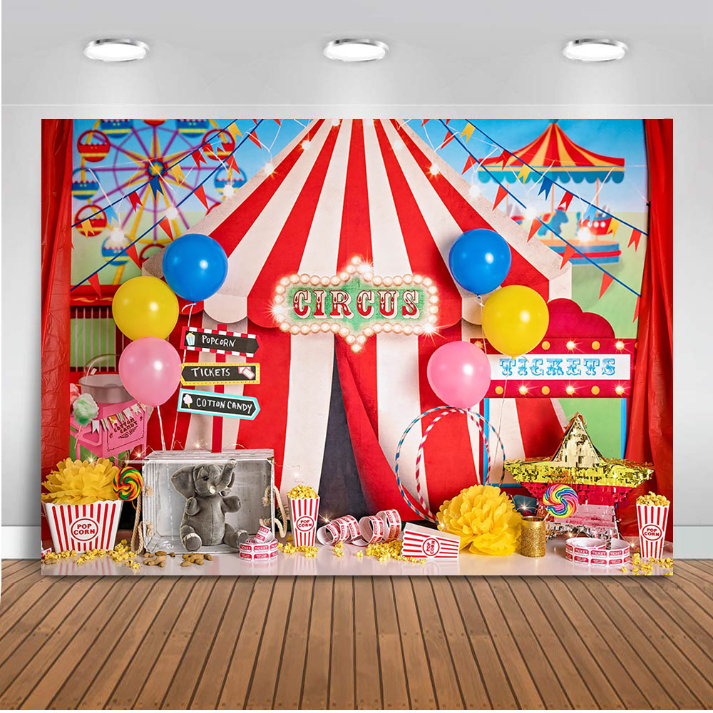 Слона из цирка фон для фотосъемки парк развлечений фон новорожденных детей портрет цирковая тематика день рождения для детей
