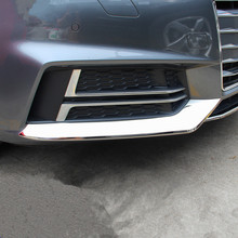 Car Styling Stainless Steel Strips 3pcs For Audi A4 B9 Front Bumper Cover Decoration Trim Exterior Stickers Auto Accessories
