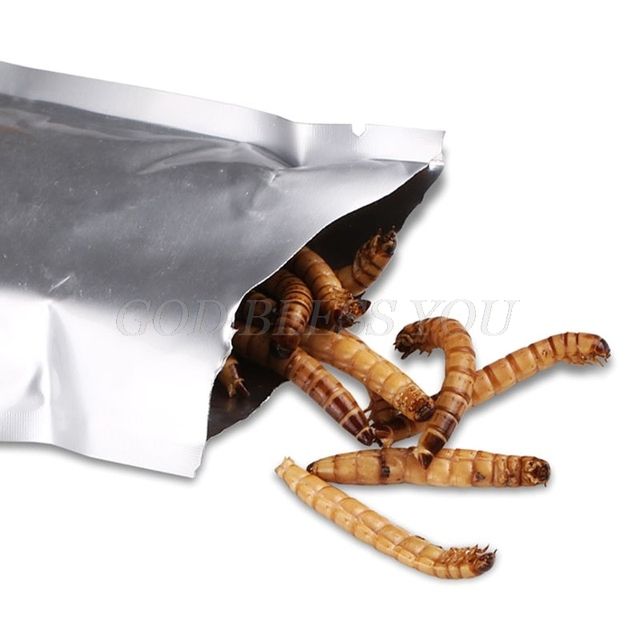 140g Natural Dried Mealworm Food Meal For Feeding Pet Reptile Chickens Wild Garden Bird Aquarium Worm Drop Shipping
