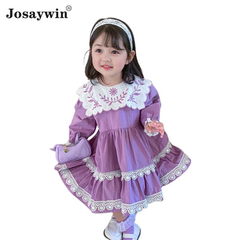 Kids Dress for Girls Baby Autumn Winter Lolita Girl Kawaii Long Sleeves Girl Wedding Dress Girl Ball Gown Princess Party Vestido autumn winter girls princess mini dress kids baby girls party wedding pageant long sleeve sweater dresses cute ball kids costume