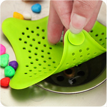 Kitchen Sink Filter Anti-Blocking Floor Drain Silicone Sewer Sucker Outfall Strainer Accessory