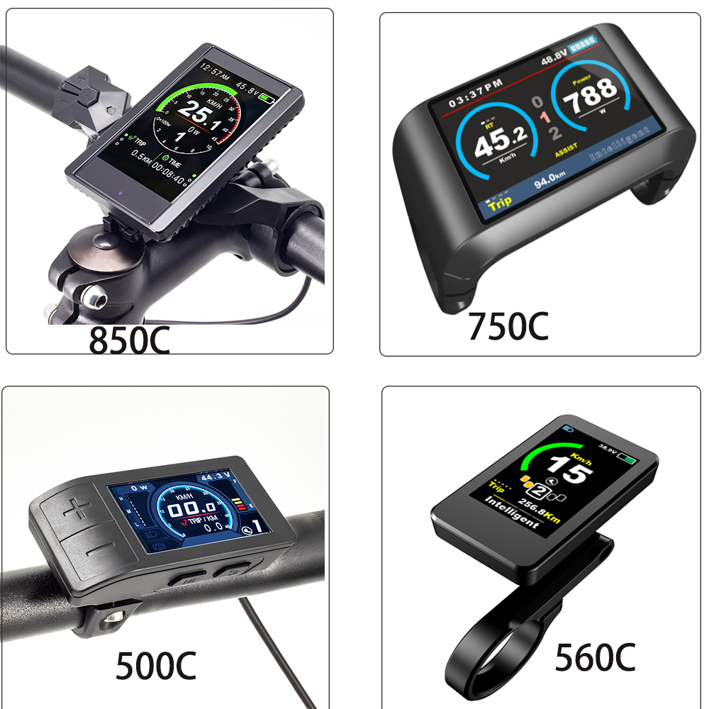 Ebike Display 500C 850C 750C 560C For Bafang Mid Drive Motor BBS01 BBS02 BBSHD E Bikes 24V 36V 48V Electric Bike Display