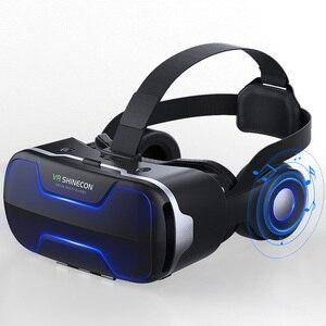Image 5 - Original vr shinecon 8.0 edição padrão e fone de ouvido versão realidade virtual 3d vr óculos fone de ouvido capacetes controlador opcional