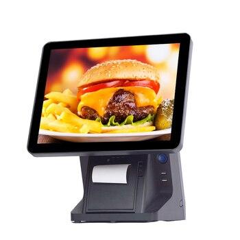 point of sale pos terminal bulit-in 80mm printer VFD pos system retail restaurant cash register