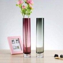Bud vaso para flores cilindro vaso de vidro para peças centrais artesanal única flor decoração do vaso sala estar escritório