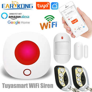 Wifi 433MHz Wireless Strobe Siren Sound and Light Siren 100dB for G30 W123 PG103 PG168 Home Security WIFI GSM Alarm Panel System