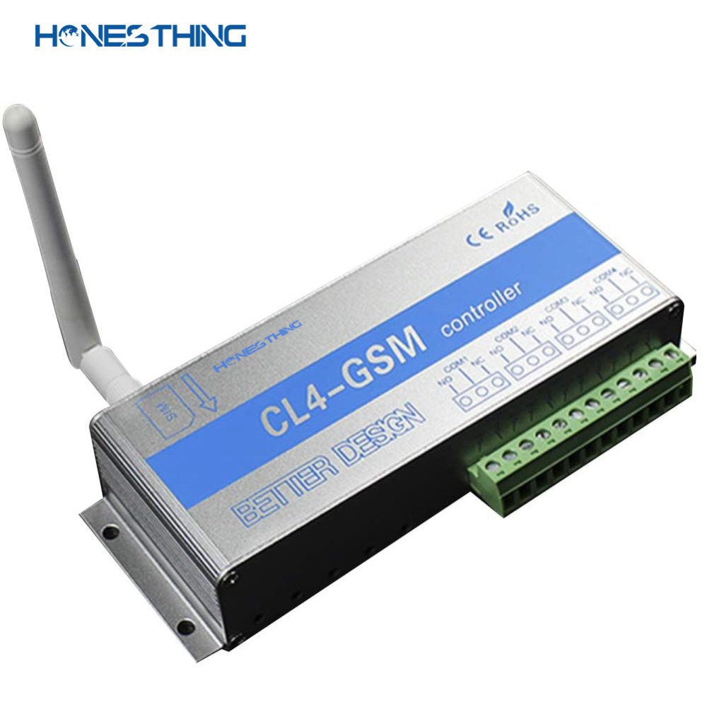 HonesThing GSM SMS Remote Switch Controller 4 Channel Relay Output Garage Gate Operate by Free Phone Call APP CL4-GSM 7