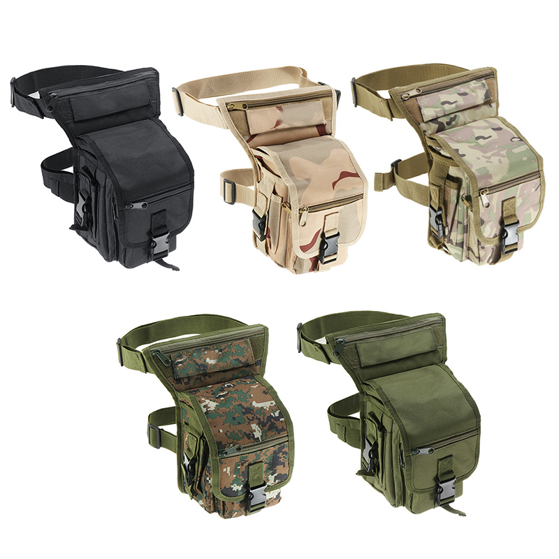 Hot Leg Bag Fashion Men Army Vintage Thigh Bag Utility Waist Pack Pouch Adjustable Hiking Male Waist Hip Motorcycle Belt Bag
