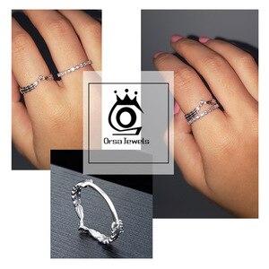 Image 5 - Женское кольцо из серебра 925 пробы с фианитом