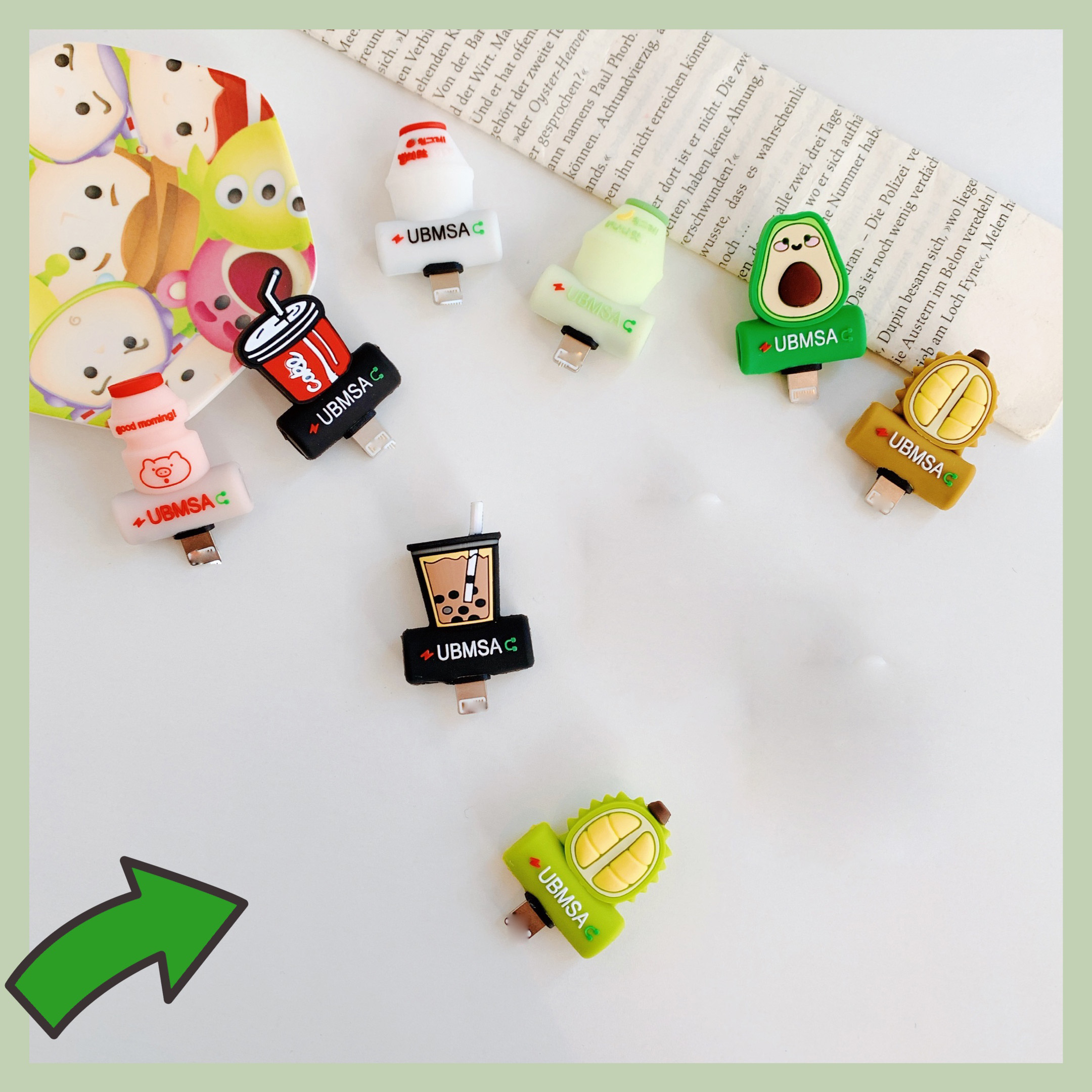 For IPhone X 7 8 Plus XR XS 11 Pro Max Cute Cartoon Soft Silicone 2 In 1 Splitter Audio Charging Connector Headphone Jack Adapte