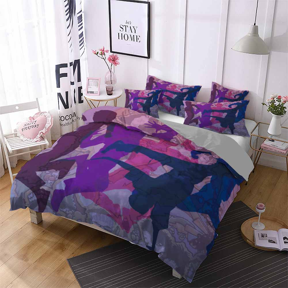 Lifelike Street Dance Scene 3D Print Boys Home Colorful Duvet Cover Set With Pillowcase Twin Full Queen King Size Comforter Set