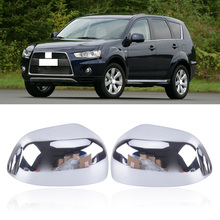 CAPQX 2 шт. для Mitsubishi ASX RVR Outlander 2007-2012 ABS хромированная Боковая дверь зеркало заднего вида рамка Крышка зеркало заднего вида оболочка