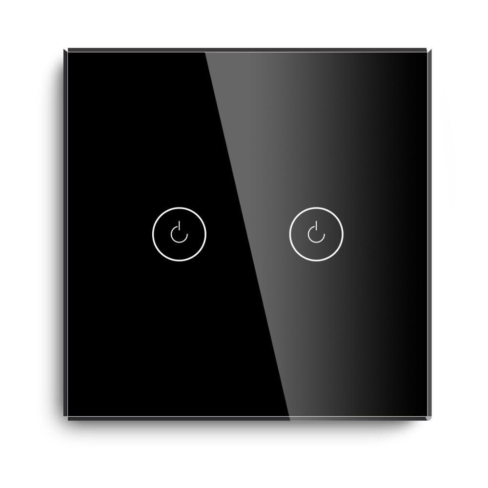 padrão da ue interruptor sensor toque preto