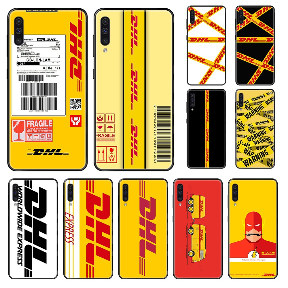 Hot Dhl Express fashion coque Etui black Phone case For Samsung Galaxy A 3 5 6 7 8 20 40 50 <font><b>70</b></font> 71 E S Plus 2016 2017 <font><b>2018</b></font> image