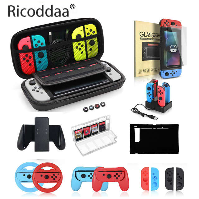 Portable EVA Storage Bag Cover Cases For Nintend Switch Case NS NX Console Protective Shell Accessories Controller Travel Bag