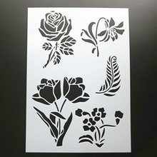 Rose Layering Stencils For Walls Painting Scrapbooking Stamps Album Decorative Embossing Paper Cards DIY Craft Tools Reusable free shipping different layering stencils painting template stamps for diy scrapbooking photo album cards decorative embossing
