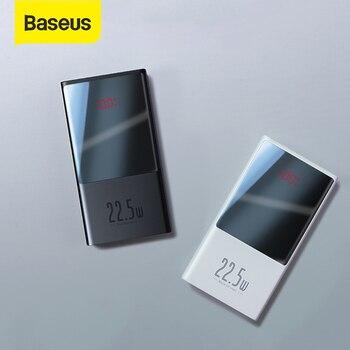 Banco de energía Baseus 10000mAh / 20000mAh USB C PD cargador de batería externa portátil de carga rápida con pantalla LED