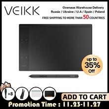 온라인 교육 및 학습을위한 VEIKK A30 그래픽 드로잉 타블렛 10x6 인치 대형 액티브 영역 아티스트 용 디지털 드로잉 패드
