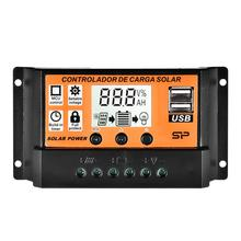 2018 new 30a 12 24v solar regulator charge controller pwm charge mode lcd solar panels genetator voltage current controller Solar Panels Controller MPPT 10A/20A/30A/40A/50A/100A Auto Solar Charge Controller LCD Dual USB Solar Panel Regulator #40