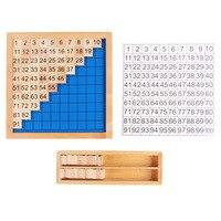 Montessori crianças jardim profissional matemática auxiliares de ensino 1 100 número contínuo placa crianças primeira infância numeracy Matemática     -