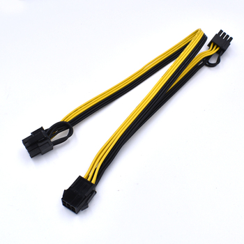 10 sztuk/partia pci express 6pin do 2 X PCIe 8 (6 + 2) pin płyta główna GPU VGA y-splitter Hub kabel zasilający