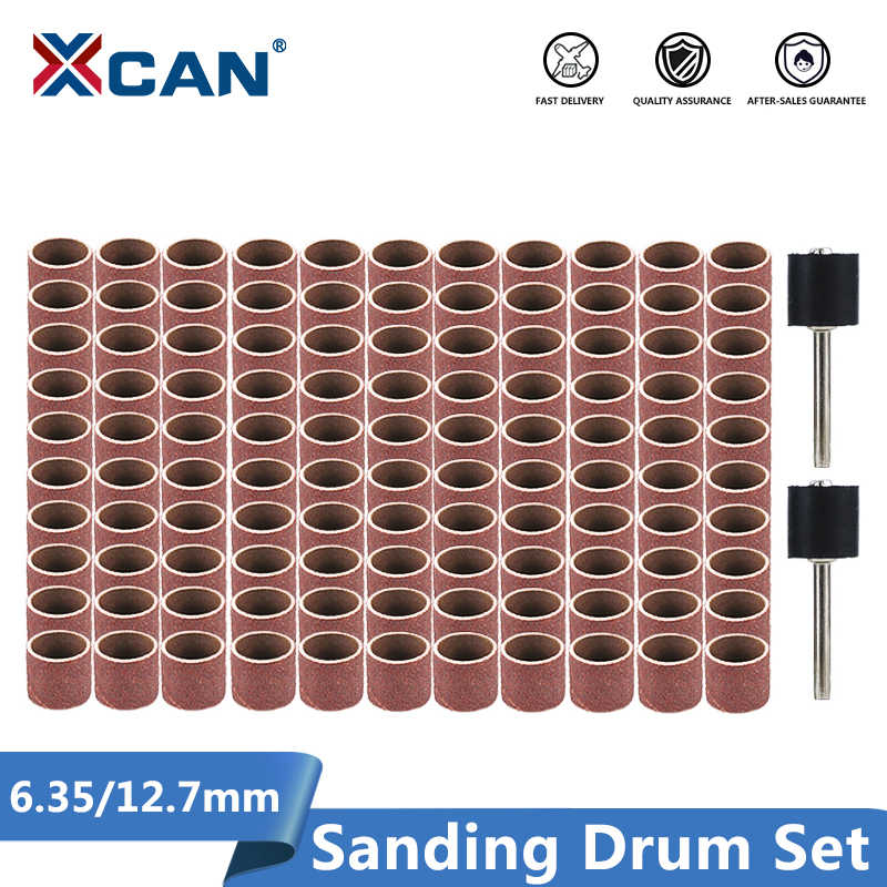Juego de 10 bandas de lija para lijadora de tambor con 4 mandriles Dremel
