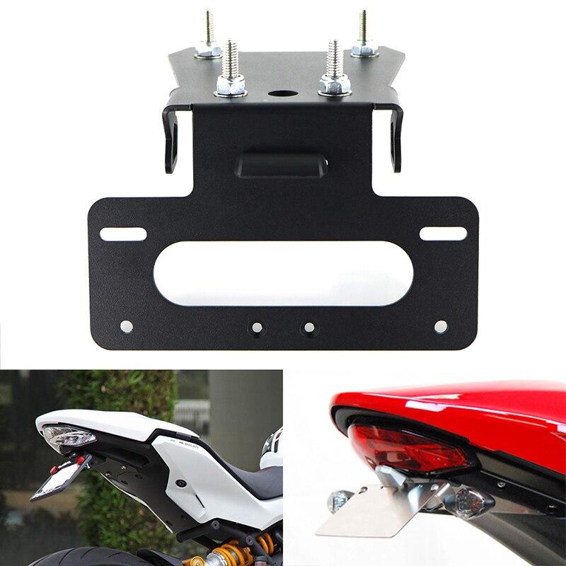For Ducati SUPERSPORT 939/S 2017 2018 2019 2020 License Plate Holder Bracket Aluminum Rear Tail Tidy Fender Eliminator Kit Black