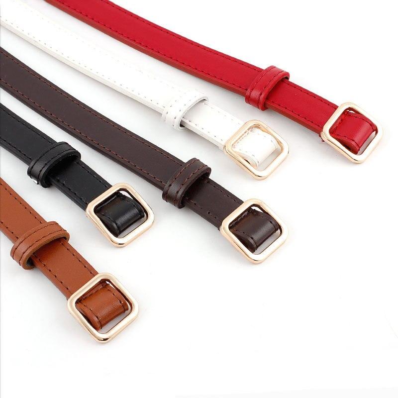 New Ladies Belt Square Buckle Non-porous Belt Fashion Wild Jeans Dress Ladies Belt 5 Colors Choice Length 105 Cm, Width 2 Cm
