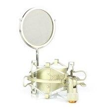 Metal Örümcek Mikrofon Şok Dağı Süspansiyon Tutucu Darbeli Kelepçe mikrofon standı Cam RODE NT1000 NT2 Bir NT2000 K2 NTK