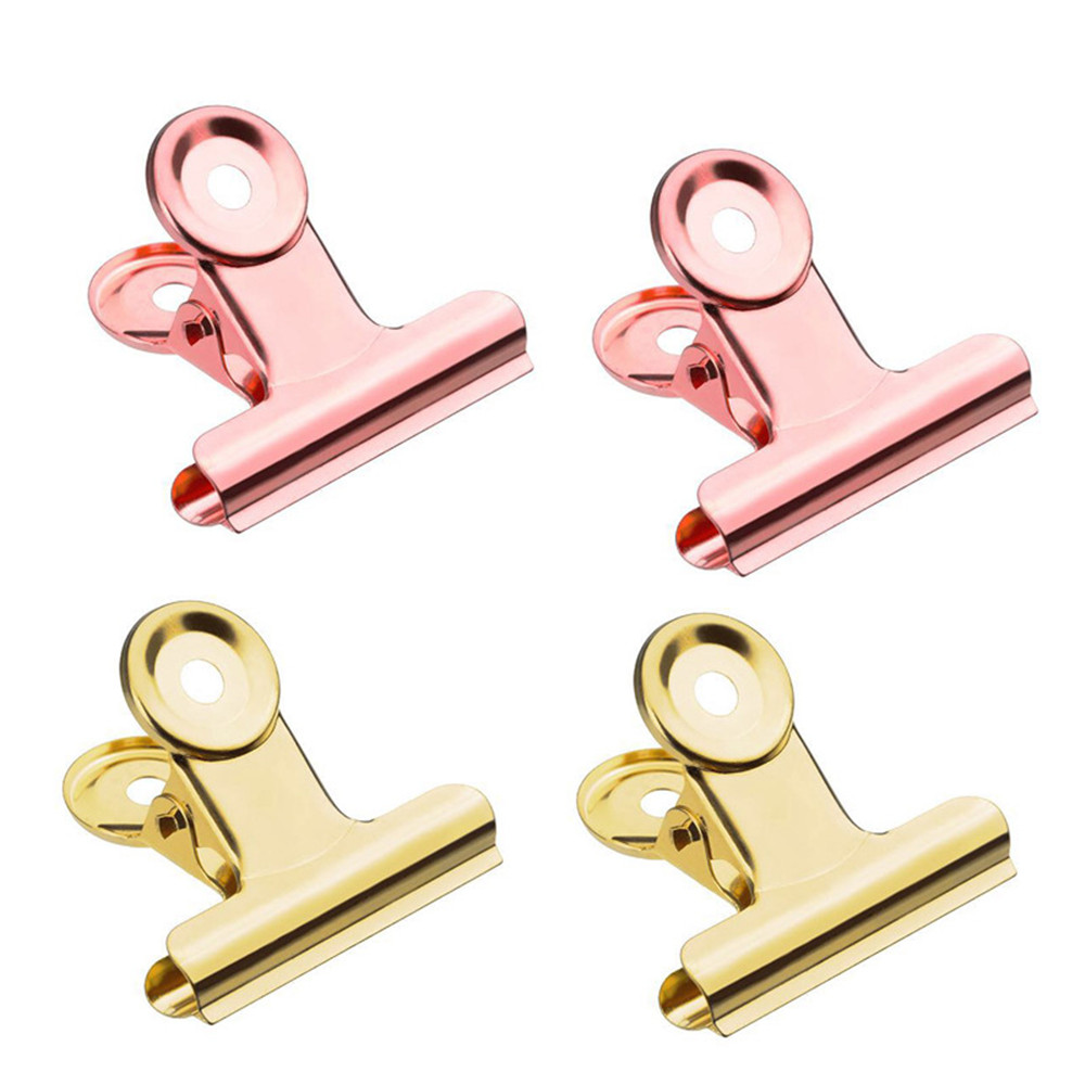 5pcs/set 22/31/38/50mm Metal Paper Clips Tickets Photos Binder Clip Document Clamp Kawaii Stationery Office School Supplies