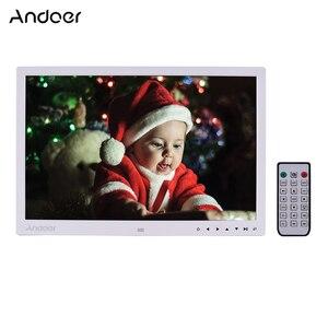 Image 2 - Andoer ulepszony 17 Cal LED fotografia cyfrowa ramka elektroniczny Album fotograficzny 1080P maszyna reklamowa 1440*900 z pilotem