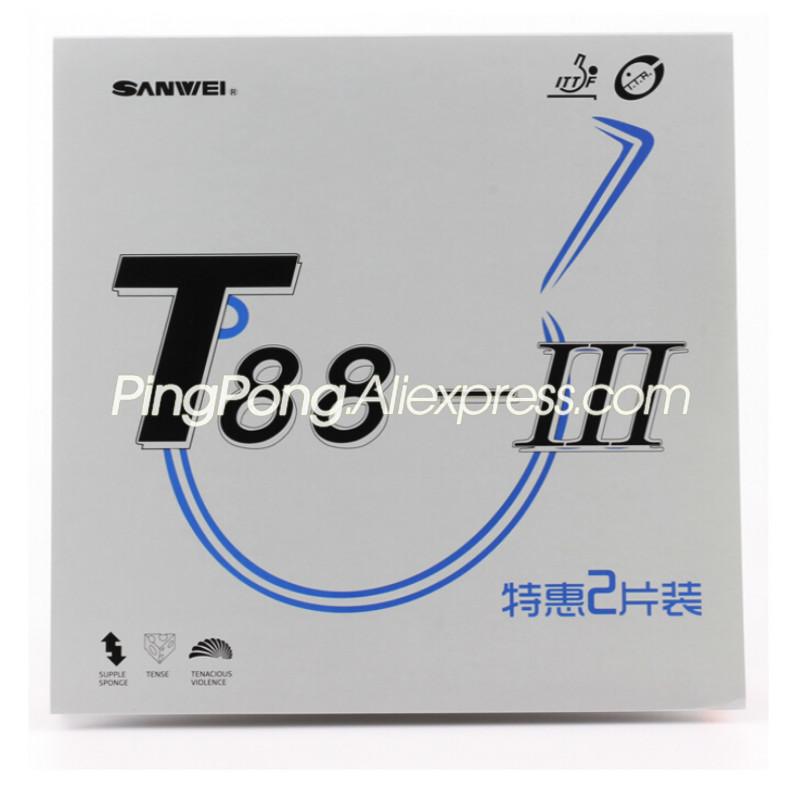 2 Pcs SANWEI T88-3 Table Tennis Rubber (Half-sticky) SANWEI Ping Pong Rubber Sponge
