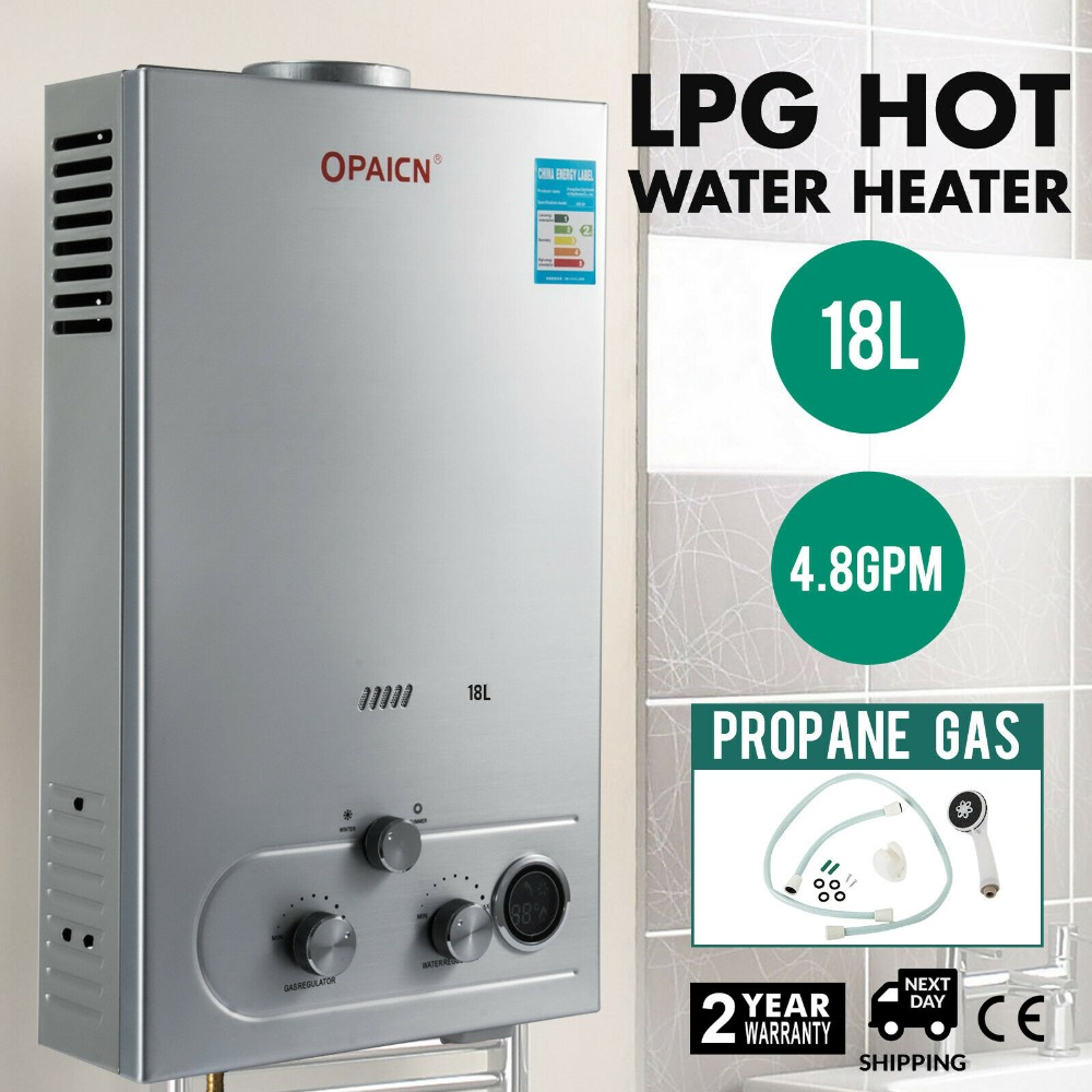 Free Shipping 18L 4.8GPM Instant Tankless Hot Water Heater LPG Propane Gas Bolier W/ Shower