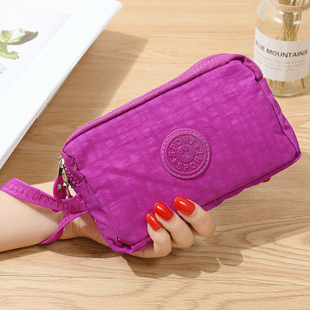 New Women Wallet Lady Canvas Clutch Coin Phone Card Holder Bag Long Purse Wallet High Quality Evening Handbag