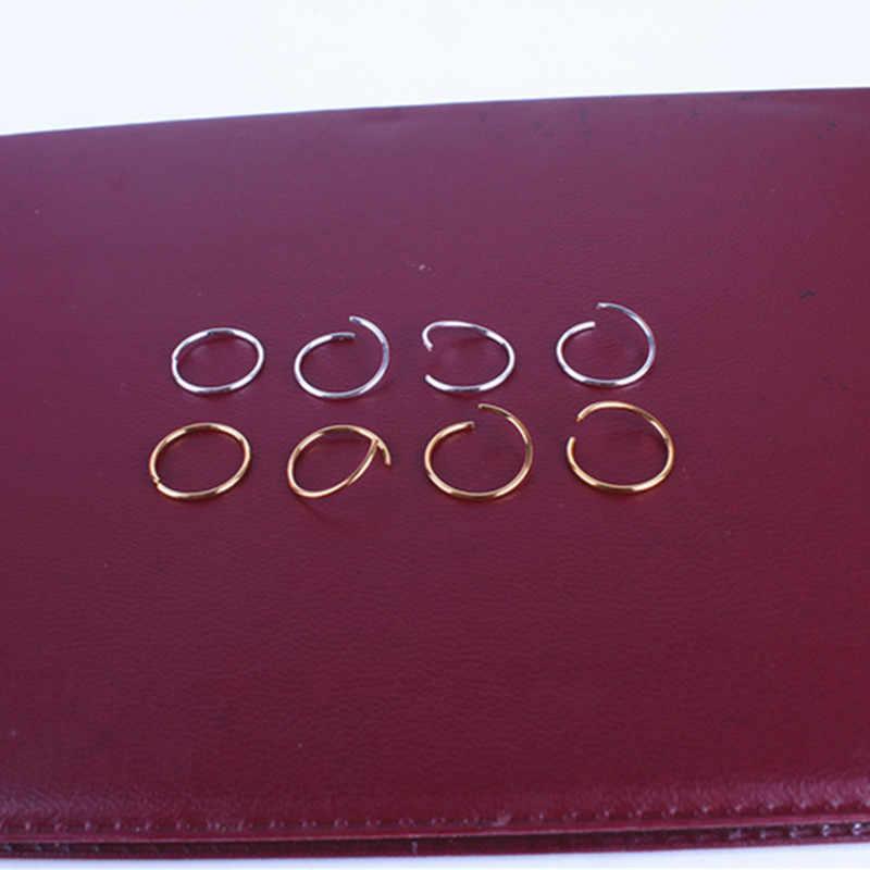 20 Buah/Banyak Emas/Perak Rambut Kepang Dreadlock Manik-manik Manset Klip Braid Ring Lingkaran Kira-kira 14Mm Lubang Bagian Dalam