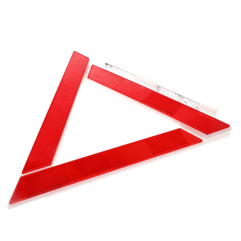 Car Truck Emergency Breakdown Triangle Reflective Safety Hazard Red Warning Sign