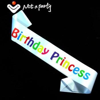 Faja de recuerdo de cumpleaños de princesa, impresión multicolor, 10 diseños, suministros para fiestas y eventos, decoración de cumpleaños, 3 uds., 2020